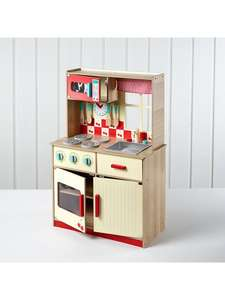 Deluxe wooden TOY kitchen back in stock. £40 (2.95 delivery) @ Asda