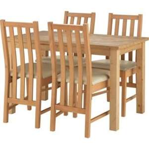 Elliott Oak Stain Dining Table and 4 Slatted Cream Chairs £179.99 from £459.99 Argos