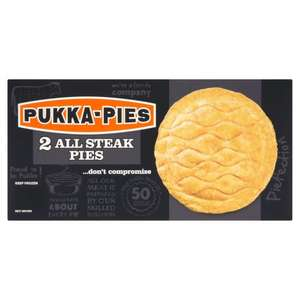 All Steak Pukka Pies, twin pack £1.25 @ Iceland instore and online (63p each)