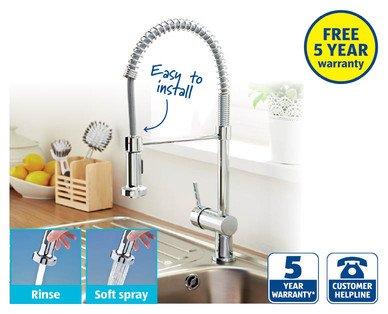 Spiral Kitchen Mixer Tap £49.99 @ Aldi