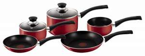 Tefal Bistro 5-Piece Cookware Set - Red £20.00 @ Morrisons