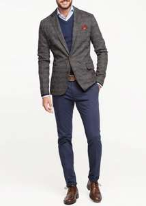 Mens Mango Prince of Wales wool-blend blazer - £32.94 @ Mango Outlet