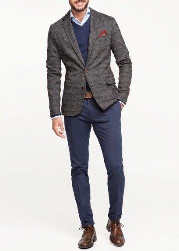 Mens Mango Prince of Wales wool-blend blazer - £32.94 @ Mango Outlet