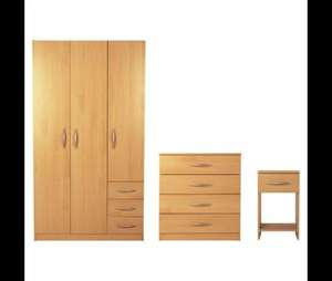 Ashton Bedroom Furniture Set, Beech Was £196 Now £156 + Delivery only (£7.95) @ Tesco Direct