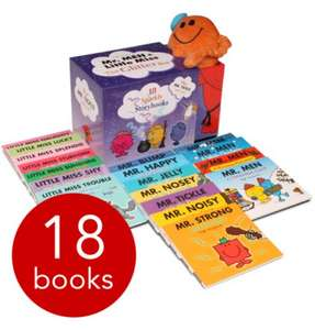 Mr. Men & Little Miss Glitter Box 18 Book collection and plush Mr Tickle cuddly toy £15 delivered from The book people.