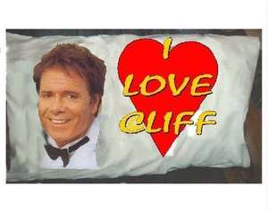 Cliff Richard Pillowcase £8.99 Free Delivery  @ Ebay/ poscards-by-the-sea