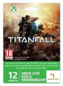 12+1 Month xbox live gold membership - Titanfall branded for £25 @ CDKeys