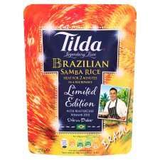 Tilda Microwave Rice 250g All Varieties 79p at Tesco and Tesco brand 49p