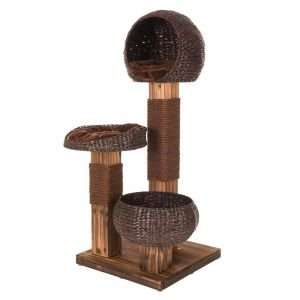 Scorched wood Cat Tree - Posh enough for the lounge! £96 @ Zooplus