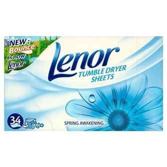 Lenor Tumble Dryer Sheets Spring Awakening ( 34 ) 2p! !