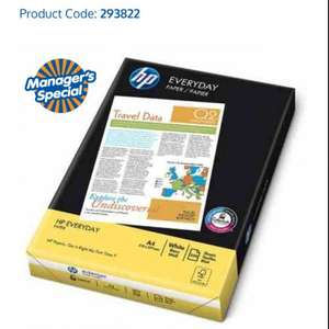 HP EVERYDAY A4 PAPER 500 SHEETS 75 GSM 2 for £5 @ B&M