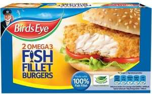 Birds Eye 2 omega 3 fish fillet burgers (227g) was £2.65 now £1.32 @ Waitrose