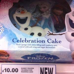 Frozen birthday cake £10 in tesco