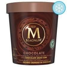 Magnum Chocolate Ice Cream Tub 450ml only £1 at FarmFoods