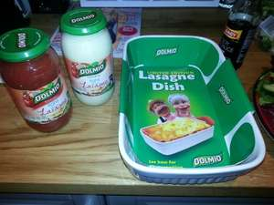 buy two dolmio sauces for £3.00 and get a Lasagne dish for free @ Tesco