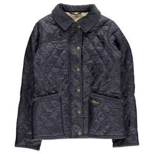 Barbour Womens Vintage Liddesdale Quilted Jacket Blue £45 @ TUCCI