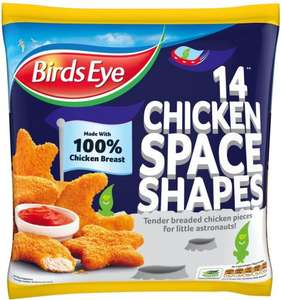 Birds Eye Chicken Space Shapes (350g) (55% Breast Meat) was £2.68 now £2.00 (Rollback) @ Asda