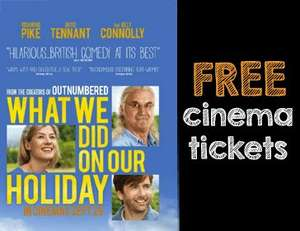 Free Cinema Tickets  - 'What We Did on Our Holiday' on Tuesday 23rd September at 7pm (For Students Only)  -  @ Student Money Saver