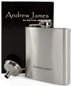 £3.55~ was £11.95 Andrew James Designer 6oz Hip Flask with Funnel - High Quality Brushed Stainless Steel Grade 201~ plus £1.99 shipping @Amazon / Andrew James UK LTD