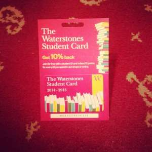 10% back at Waterstones for a year for students