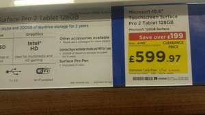 Microsoft surface pro 2 128gb £599.97 @ PCWorld