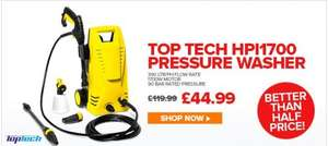 ECP: Top Tech HPI1700 Domestic Pressure Washer: £44.99 (Also £2.25 Quidco)