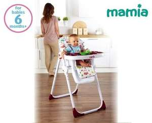 Mamia High Chair for £29.99 at Aldi from Thursday 18th September.