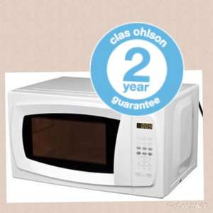 Digital Microwave 700W with 10 Power settings & 2 year guarantee  29.99 in store @ Clas Ohlson or £26.99 online with code CLAS24133 £4.95 delivery
