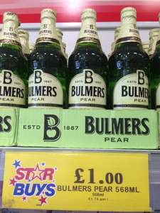 Bulmers Cider Pear, Original and Bold Black Cherry only £1.00 each at Home Bargains