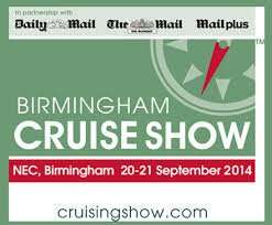 2 x FREE tickets - Cruise Show - NEC - 20-21 Sept 2014