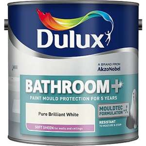 Dulux Bathroom + 2.5l  brilliant white. £10 was £20, now £16 but scans at £10 - Asda instore