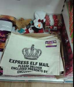 Elf Mail sack - perfect for Elf on the shelf! £1 @ Poundland