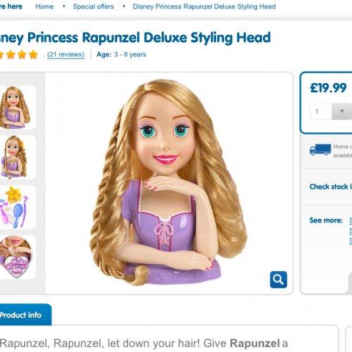 Disney Princess Rapunzel Deluxe Styling Head £19.99 @ TheToyShop instore