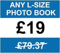 L Size (28cm x 21cm) Photobook with 100 pages from Bonusprint for £19.00 including postage
