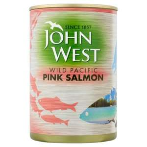 John West Wild Pacific Pink Salmon 418g (big tin) £1.79 @ Home Bargains