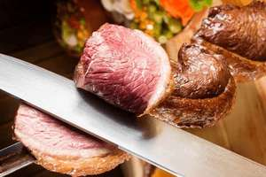 RIO BRAZIL , ALL YOU CAN EAT Brazilian grill with a glass of Prosecco for two £29 at kGB Deals