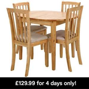 Extending Dining Table and 4 chairs, Homebase 4 days only. £108.94
