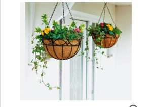 £3.99 ~ was £9.99 ~ Garden 12 Inch Decorative Wire Hanging Basket - 2 pack @ Argos ~ Free Reserve and collect