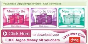 Free pregnancy and baby packs @ Emmas Diary