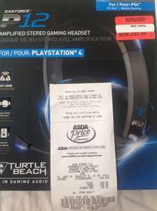 Turtle Beach P12 headset for ps4  £20 @ Asda instore