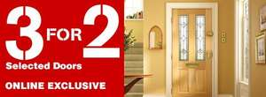 Wickes - 3 for 2 on doors + free delivery