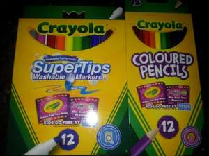 crayola pencils 54p and supertips 74p tesco express
