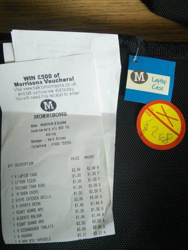 Laptop bag £2.48 instore @ Morrisons