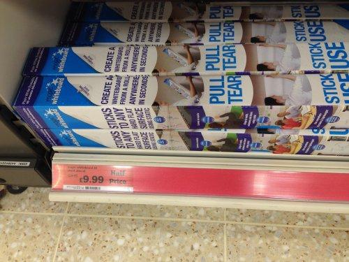 Magic whiteboard half price £9.99 from £19.99 @ Sainsburys instore