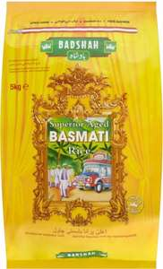 Badshah Superior Aged Basmati Rice (5Kg) £5 @ asda was £10