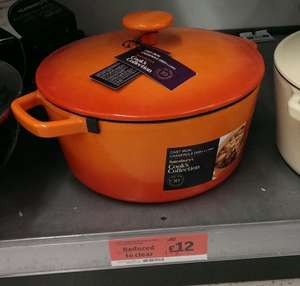 Cast Iron Casserole Dish was £40 now just £12 to clear at Sainsbury's.