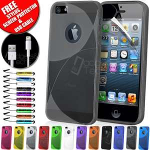 NEW ECLIPSE SLIM FIT SILICONE GEL CASE FITS APPLE IPHONE 5S FREE GUARD 99p @ Ebay /  Gadgets and Techs