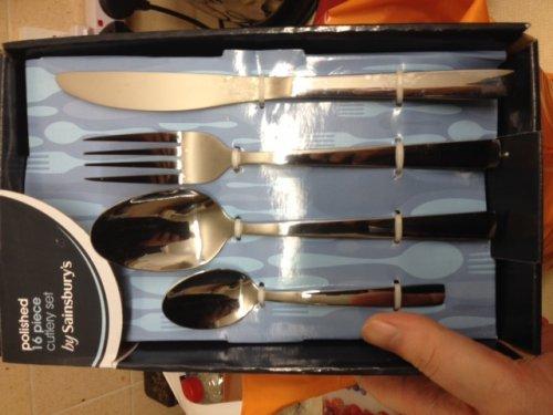 Polished 16 piece cutlery set half price £9 @ Sainsburys