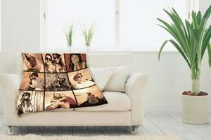Personalised Photo Blanket from £14.99 + £4.99 delivery - Great Photo Gifts (wowcher)