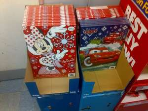 Disney Minnie Mouse/Car/Monsters Inc advent calendars 30p each or 4 for £1.00 at Heron Foods